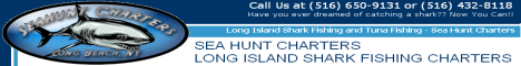 Sea Hunt Charters - Long Island Shark Fishing Charters, Long Beach NY